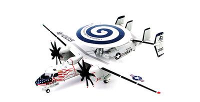 "E-2C+ Hawkeye 2000 VAW-123 ""Screwtops"", USS Enterprise Atlantic Ocean, Oct 2005, 1:72, Hobby Master"