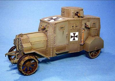 E-V/4 Panzerkraftwagen Ehrhardt, vehículo acorazado alemán, 1ª Guerra Mundial, 1:30, John Jenkins