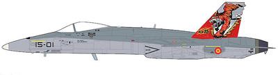 "EF-18A ""NATO Tiger Meet 2016"" 15-01/C15-14, Ala 15, Ejército del Aire Español, Zaragoza, 1:72, Hobby Master"