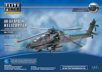 ELITE FORCE, AH64 APACHE HELICOPTER, 1:18