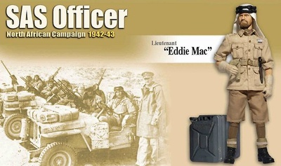 Eddie Mac (Lieutenant), SAS Officer, North African Campaign 1942-43, 1:6, Dragon Figures