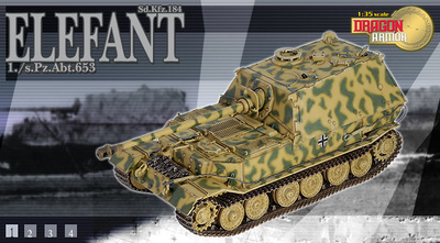 Elefant Sd.Kfz 184, 1./s.Pz.Abt.653, 1:35, Dragon Armor