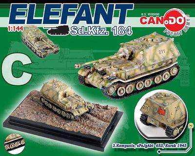 Elefant Sd.Kfz. 184, 2.Kompanie, sPzJgAbt 653, Kursk, 1944, 1:144, Can.Do