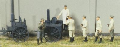 Escena de soldados alemanes esperando el rancho, 1939-45, 1:87, Preiser