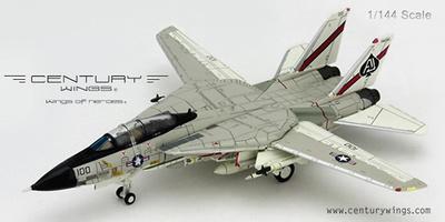 F-14A Tomcat, U.S.Navy, VF-41 Black Aces AJ100, 1978, 1:144, Century Wings