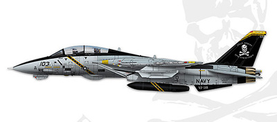 "F-14B Tomcat VF-103 Jolly Rogers ""Last Flight"" BuNo 163217, 1:72, Calibre Wings"