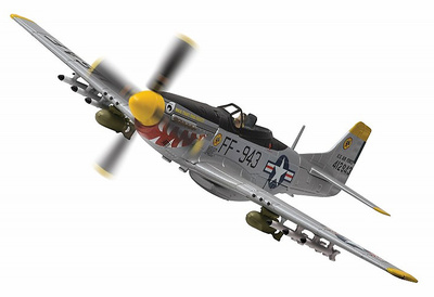 F-51D Mustang, 44-12943/FF-943 'Was that too fast?'18th Fighter Bomber Group, USAF, Chinhae Airfield, South Korea, 1951, 1:72, Corgi
