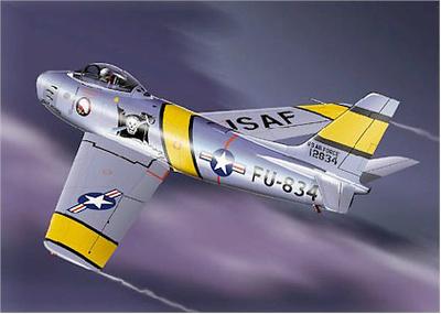 """F-86E SABRE U.S.A.F. 335 FIS, 4 FIW  """"CHIEFS"""", 1:48, Franklin Mint"""