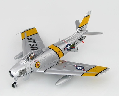 "F-86E Sabre FU-760, piloto Charles ""Chick"" Cleveland, 4th Fighter Wing, Corea, 1953, 1:72, Hobby Master"