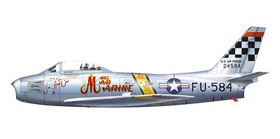 "F-86F Sabre 52-4584, ""Mig Mad Marine"" Major John Glenn,  25th FS, Suwon AB, Corea, 1953, 1:72, Hobby Master"