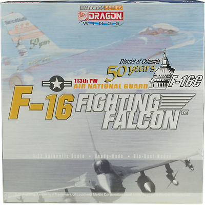 F16c 113th. FW, 50 years Air National Guard, 1:72, Dragon Wings