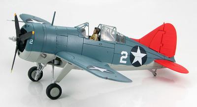 "F2A-3 Buffalo ""White 2"" NAS Miami, Florida 1940s, 1:48, Hobby Master"