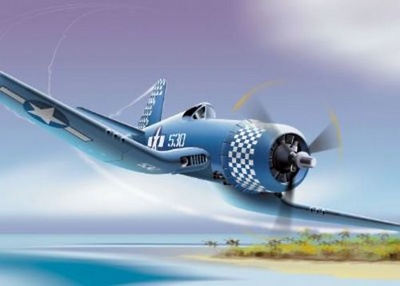"F4-U Corsair US Marines, VMF-132 ""Checkerboards"", 1:48, Franklin Mint"