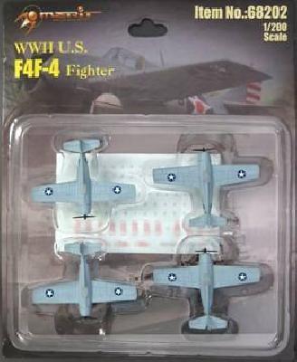 F4F-4 Wildcat, (4 unidades), 1:200, Merit