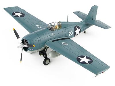 """F4F-4 Wildcat """"Battle of Midway"""" White 23, Lt. Cdr John Thach, VF-3, USS Yorktown, 4-6 Junio 1942, 1:48, Hobby Master"""