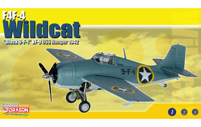 "F4F-4 Wildcat ""Black 9-F-1"", VF-9 ""Cat o' Nines"", USS Ranger, Operación Torch, 1942, 1:72, Dragon Wings"