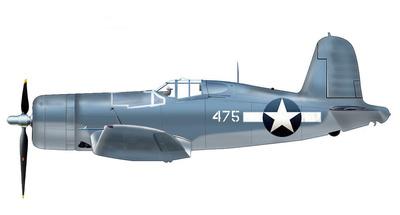 F4U-1 Corsair No.475 1st/Lt John F. Bolt Jr.,  VMF-214, Islas Russell, 1943, 1:48, Hobby Master