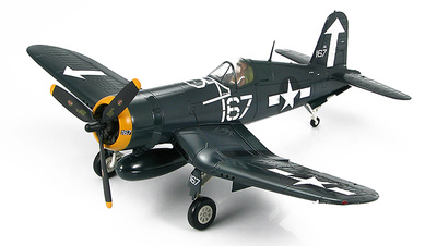 F4U-1D Corsair flown by Lt.Cdr. Roger Hedrick, VF-84, White 167, Bunker Hill, Feb. 1945, 1:48, Hobby Master