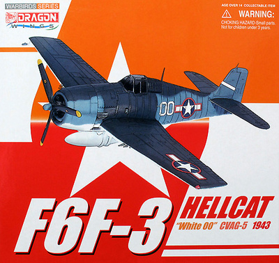F6F-3 CVAG-5, USS Yorktown, August 1943, 1:72, Dragon Wings