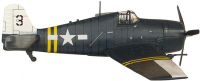 F6F-5 Hellcat, VF-24 Squadron, Julio 1945, 1:72, Altaya