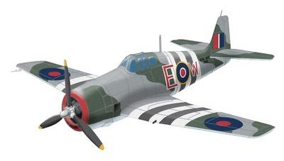 "F6F HELLCAT ""Ultimate"", FAA Squadron, 1944, 1:72, Corgi"