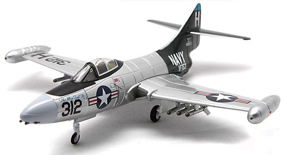 "F9F-5 Panther ""USN VF-153 Blue Tail Flies, 'The Blue Tail Fly', USS Princeton, 1953, 1:72, Falcon Models"