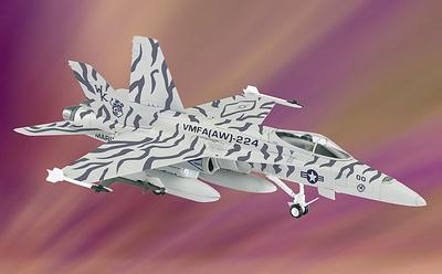 F/A-18 Hornet  U.S. Marine Corps, VMFA-(AW) 224, 1:48, Franklin Mint