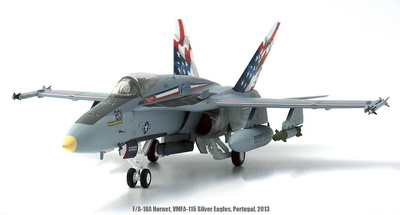 "F/A-18A, US Navy, Hornet VMFA-115 ""Silver Eagles"", Portugal, 2013, 1:72, JC Wings"