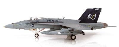 """F/A-18C Hornet 165187/AJ 400, VFA-37 """"Ragin' Bulls"""", USS George H. W. Bush, 1:72, Hobby Master"""
