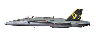 F/A-18C Hornet BuNo 164633 of VFA-25, USS Abraham Lincoln, Northern Arabian Gulf, April 2003,  1:72, Hobby Master