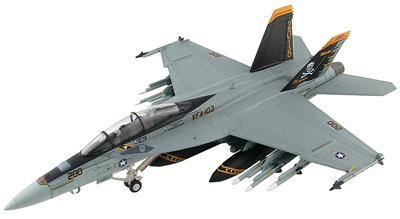 """F/A-18F Super Hornet, VFA-103, USS Lincoln , 2018 """"75th Anniversary, 1:72, Hobby Master"""