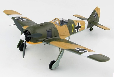 FW 190A-4 Commander of 6./JG 2 Oblt. Erich Rudorffer,  North Africa, Spring 1943, 1:48, Hobby Master
