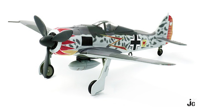FW 190A-5, Major Hermann Graf, Luftwaffe JG52, Sur de Francia, 1943 , 1:72, JC Wings