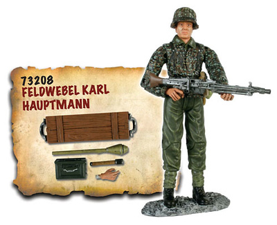 Feldwebel Karl Hauptmann, German Army, 1:18, Bravo Team