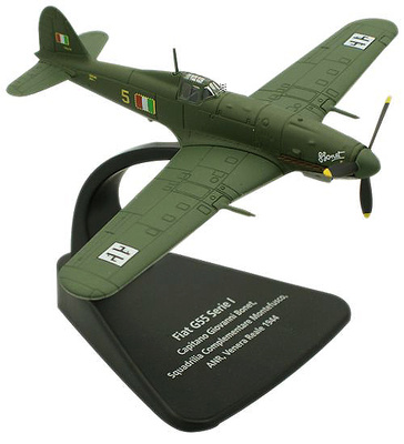 Fiat G55, Capitán Giovanni Bonet, Squadrilla Complementare Montefusco, ANR, Venera Reale, 1944, 1:72, Oxford