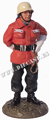 Firefighter with intervention suit, Germany, 1990, 1:30, Del Prado