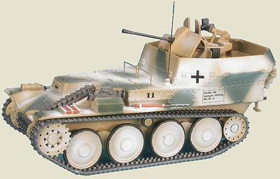 Flakpanzer 38(t) Gepard Anti-Aircraft Tank auf Selbstfahrlafette 38(t) Ausf M (Sd.Kfz.140), 12.SS-Panzer-Division Hitlerjügend, Las Ardenas, 1944, 1:48, Gasoline
