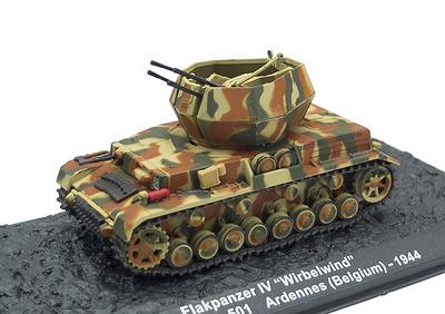 Flakpanzer IV Wirbelwind; Las Ardenas, Bélgica, 1944, 1:72, Altaya