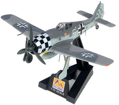 FockeWulf Fw 190A, Luftwaffe 1./JG 1, White 5, Rudolf Hubl, Julio, 1943, 1:72, Easy Model