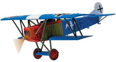 Fokker DVII, piloto Rudolf Berthold Jasta 15/JG II, Chery-les-Pouilly Aerodrome, Francia, 1918, 1:48, Corgi