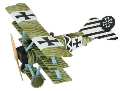 Fokker Dr1 Triplane, Jasta 6, Leutnant Johannes Janzen, March 1918, 1:48, Corgi