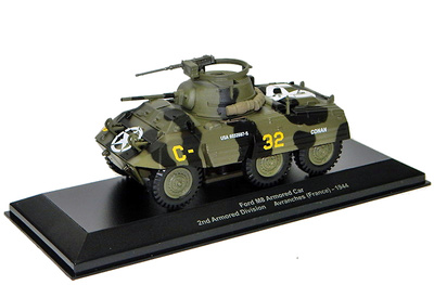 Ford M8 Arm Car, 2nd Arm Div, Avranches, 1944, 1:43, Atlas