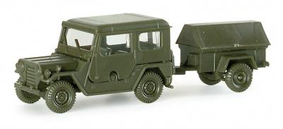 Ford Mutt con remolque, 1:87, Minitanks