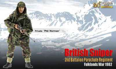 "Francotirador ""Phil Norman"", 2nd Battalion Parachute Regiment, Las Malvinas, 1982, 1:6, Dragon Figures"