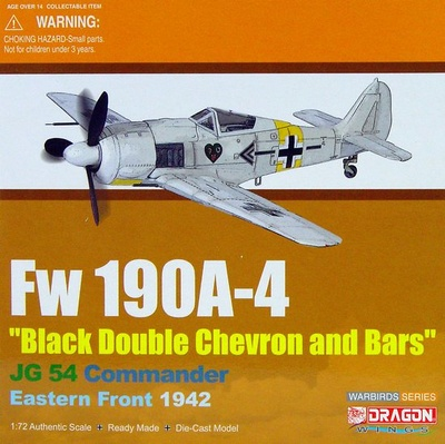 "Fw190A-4 ""Black Double Chevron and Bars"", JG.54, 1:72, Dragon Wings"