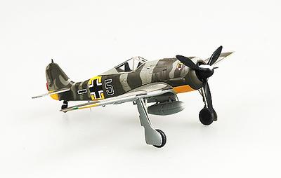 """Fw190A-6, """"Black 5"""" Commander of 5./JG 54, Rusia, Junio, 1943, 1:72, Easy Model"""