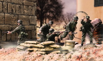 GERMAN PANZER GRENADIER, Normandia, 1:72, Forces of Valor