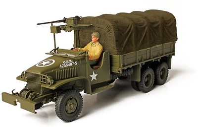 GMC 2.5-ton, Open Cab Cargo Truck, US Army, Ardenes, 1944, 1:72, Forces of Valor