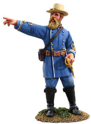 General Confederado John Bell Hood, 1:32, William Britains