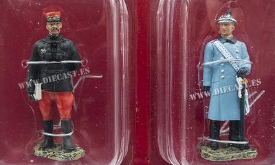General Francés, 1914 + Coronel Alemán, 1914, 1:32, Hachette